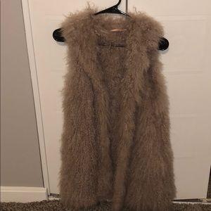 Light Purple Real Fur Vest